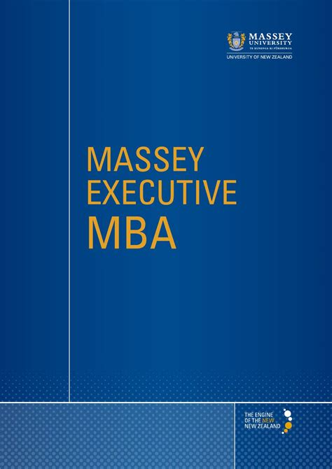 Executive Mba In New Zealand by Master Of Business Administration 2015 By Massey
