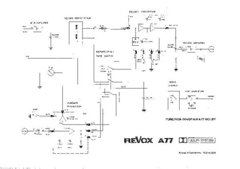 revox a77 dolby circuit diagram schematics by for