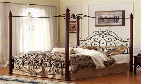 iron bedroom furniture king canopy bed cast beds designs