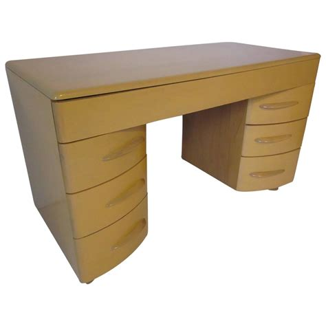 Haywood Wakefield Desk by Encore Kneehole Desk For Heywood Wakefield At 1stdibs
