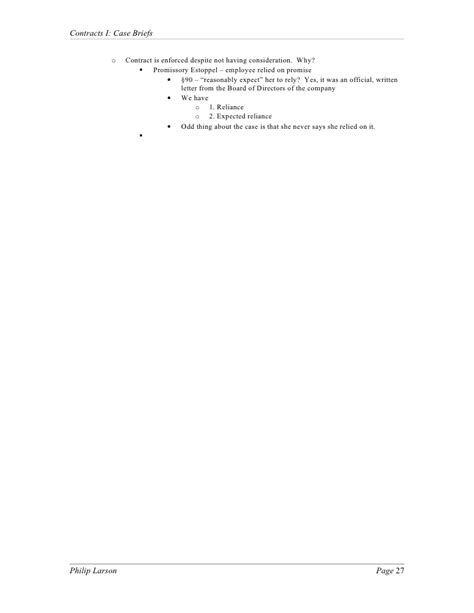 restatement of contracts section 90 contracts i case briefs