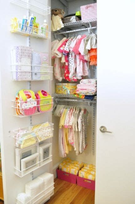 Shallow Closet Ideas by 10 Clever Ideas To Help Organize Your Nursery Closet