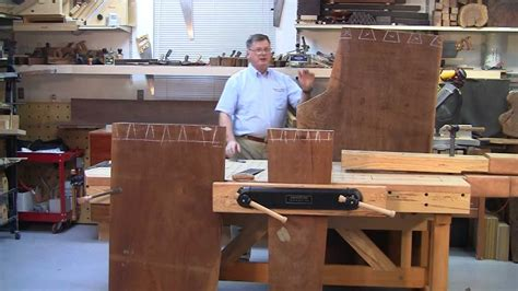 foster workbench cutting dovetails   large slabs