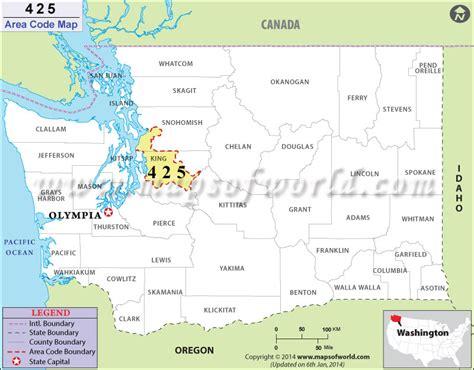 us area codes washington state 425 area code map where is 425 area code in washington