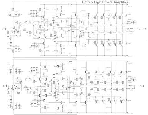 lifier circuit diagram gt circuits gt stereo high power audio lifier html l21320