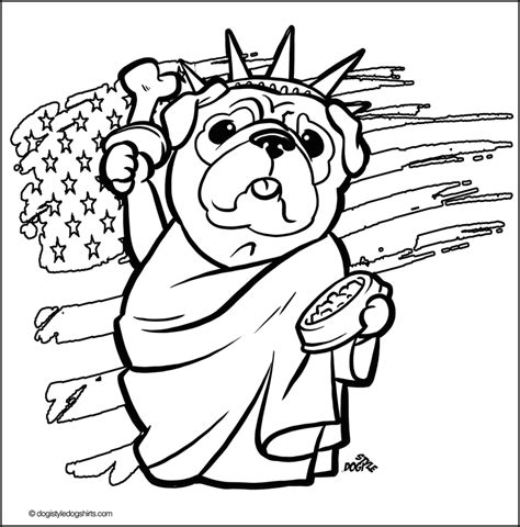 pug color printable pug coloring page az coloring pages