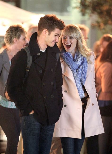 emma stone và andrew garfield emma stone photos photos spider man 2 films in nyc