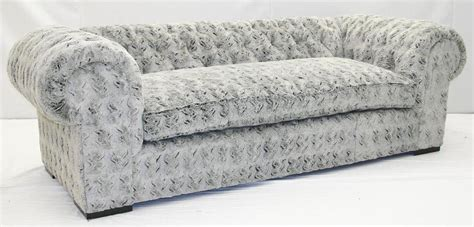 furry sofa 4 grey fox faux fur sofa crazy fun and comfortable