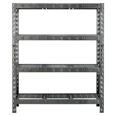 Gladiator 4 Shelf 60 In W X 72 In H X 18 In D Welded Garage Shelves Home Depot