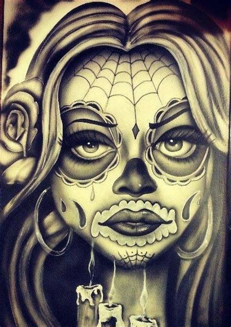 chicano art day of the dead pinterest