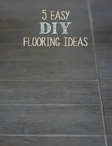 Easy Flooring Ideas 5 Easy Diy Flooring Ideas Painted Furniture Ideas