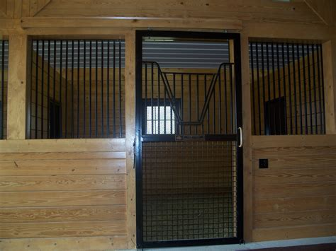 Centered Stall With Custom Mesh Door Precise Buildings Barn Stall Doors