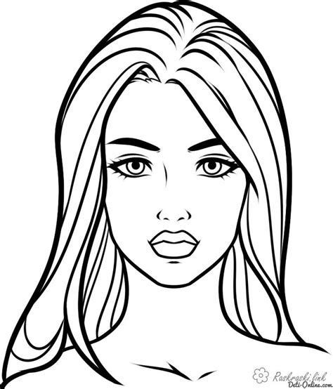 Beautiful Woman Face Coloring Pages Grown Ups Stunning Coloring Images