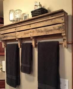 rustic bathroom towel racks diy shelves and racks