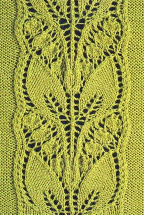 knitted lace leafy knitted lace panel knitting bee