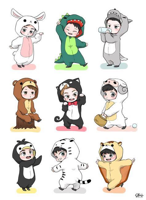 wallpaper exo cartoon 12 best kpop chibi images on pinterest chibi draw and