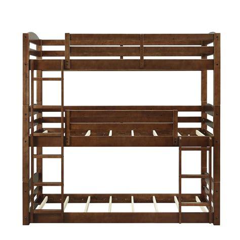 Dorel Bunk Bed Dorel Living Noma Mocha Wood Bunk Bed Frame Fh7891tbb The Home Depot