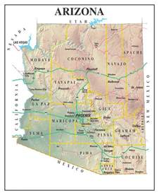maps map arizona