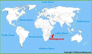 Madagascar World Map madagascar location on the world map