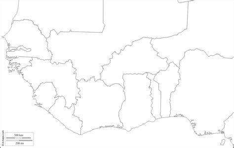 africa map outline blank map of western africa