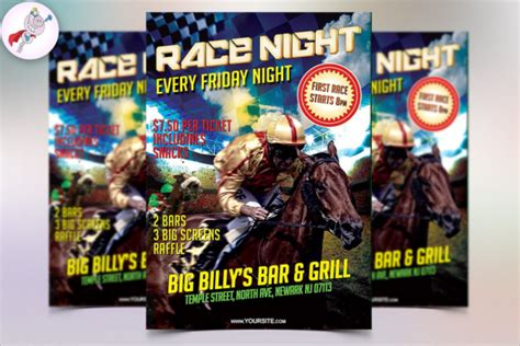 printable race night tickets horse flyer template designs free premium templates