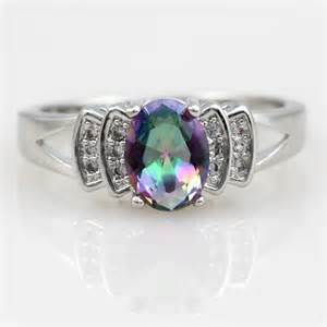 mystic topaz wedding ring sets mystic topaz 925 sterling silver rainbow topaz jewelry