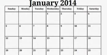 January 2014 Calendar Template by Free Printable Calendar Free Printable Calendar January