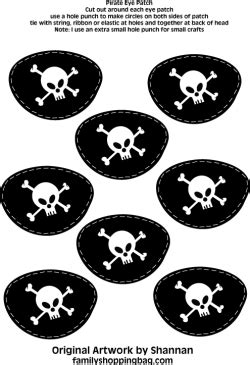 eye patches pirate party decorations free printable