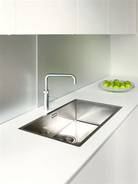 Designer Kitchen Sinks Stainless Steel systemat range polar white lacquer matt cabinetry