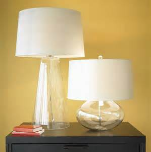 clear glass base table lamp lamps ideas