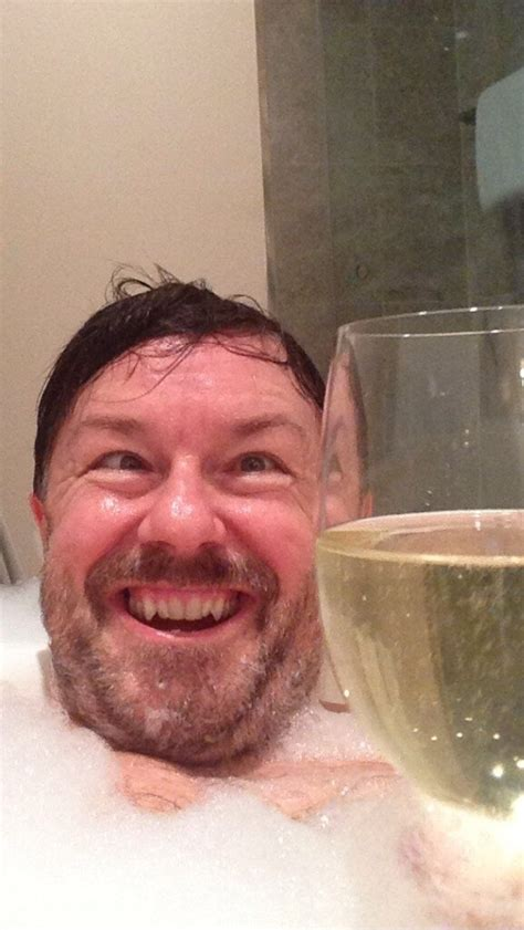 selfies in bathtub the top 30 ricky gervais bathtub selfies