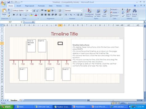 microsoft office timeline template ploss timeline template