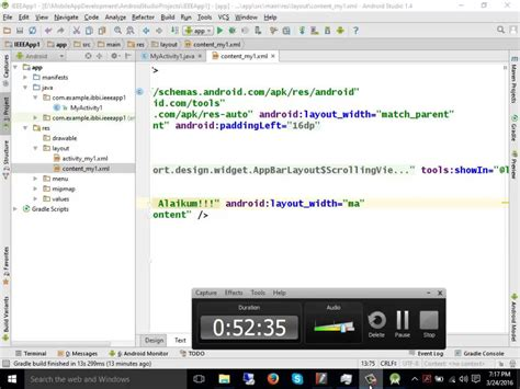 gui layout xml android development tutorial in urdu hindi part 2