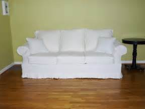 white slipcovered sofa white denim sofa slipcover