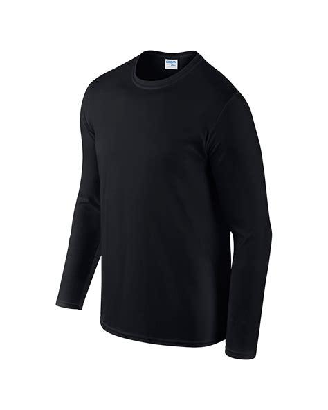 Kaos Polos Black Hitam jual kaos lengan panjang polos hitam gildan sleeve