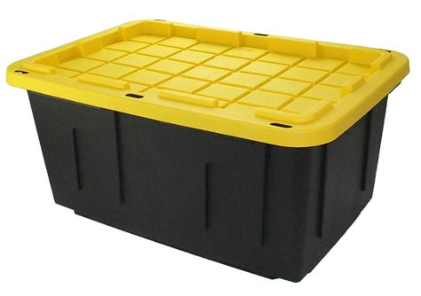 poly storage containers 17 gallon heavy duty hinged industrial tough container box