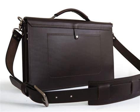 Handmade Leather Briefcase - handmade briefcase messenger bag basader
