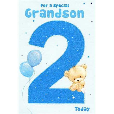Grandson Birthday Card Grandson 2nd Birthday Greeting Card Greeting Cards