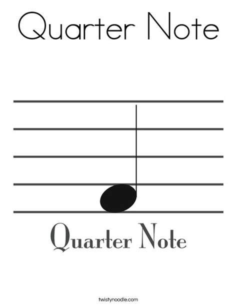 large printable quarter note quarter note free colouring pages