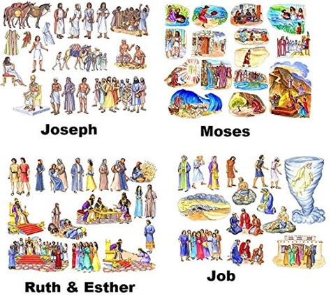 9 Old Testament Bible Stories Felt Figures   Flannel Board