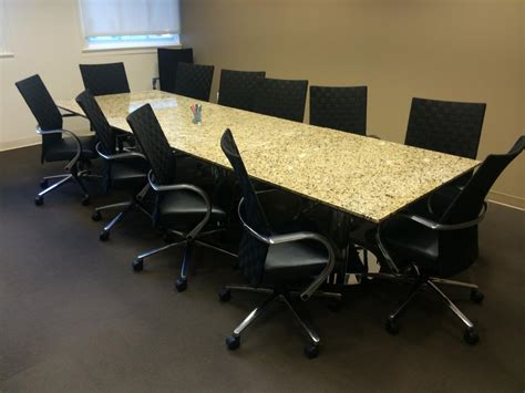 Used Office Conference Tables 12 Custom Marble Top