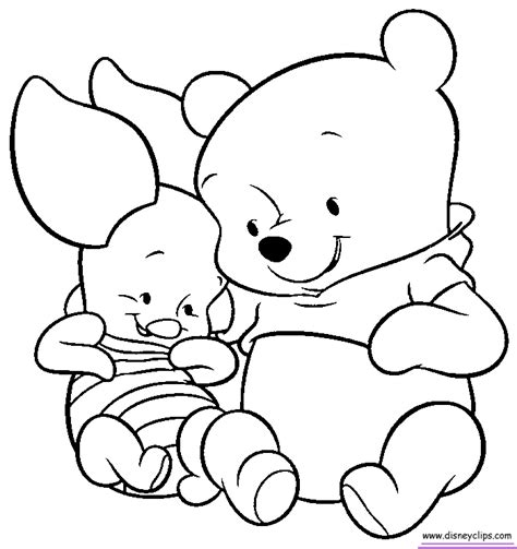 Coloring Pages Of Winnie The Pooh As Babies winnie the pooh baby coloring pages az coloring pages