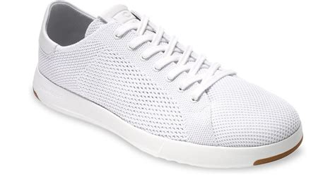 lyst cole haan grandpro tennis stitchlite sneakers in white for