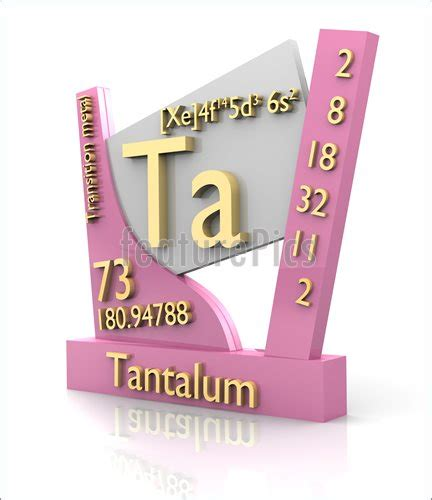 science tantalum form periodic table of elements v2