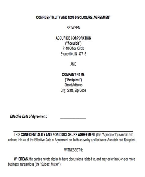 data confidentiality agreement template sle data confidentiality agreement 10 exles in