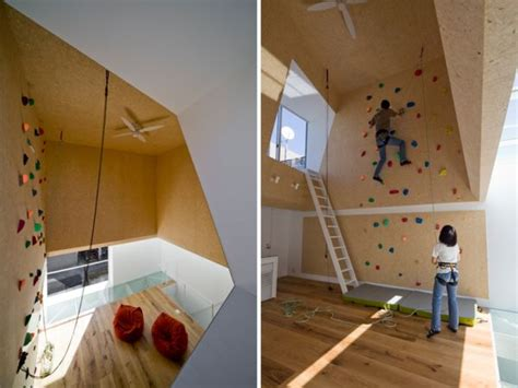 modern homes featuring a rock climbing wall trolines