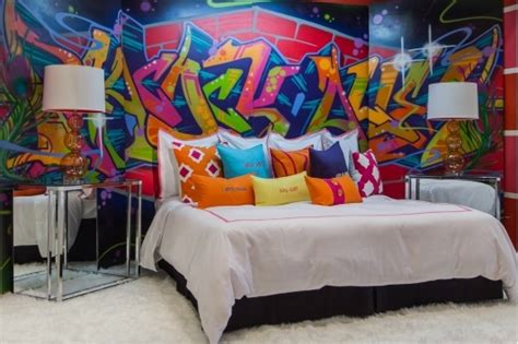 graffiti bedroom wall diy wall art party everydaytalks com