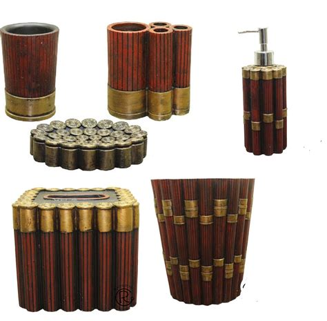 shell bathroom accessories shotgun shell bathroom accessory complete set