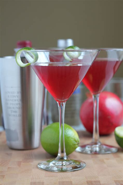 Happy Hour Pomegranate Cosmo by 25 Cocktails For New Years Hip Foodie