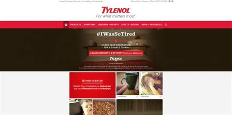 Tylenol Sweepstakes - tylenol iwassotired sweepstakes